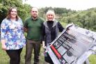 Lucy Atherton, vice-chair of the Friends of Saltwells Nature Reserve, David Keeley, countryside manager at Dudley Council, with Councillor Karen Shakespeare, cabinet member for environment, highways and street services.