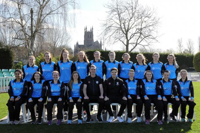 Worcestershire Women's Rapids line up. Picture: www.wccc.co.uk