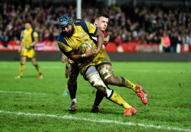 Tevita Cavubati scores a try for Worcester Warriors in 2017. Picture: Joe Meredith/JMP
