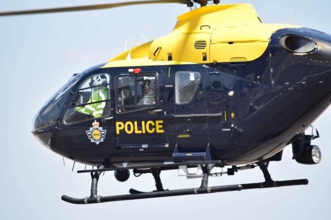 A helicopter from the National Police Air Service was sent to Kinver.