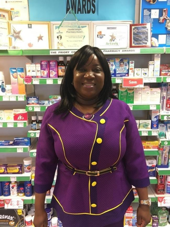 Olutayo Arikawe from the Priory Community Pharmacy in Dudley