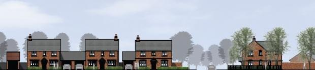 Stourbridge News: An impression of how the street scene will look. Image courtesy of Persimmon Homes