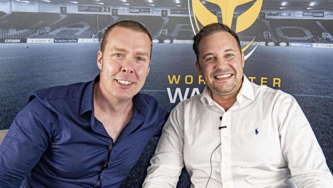 Jason Whittingham (left) and Colin Goldring. Picture: WORCESTER WARRIORS