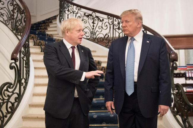 Boris Johnson meeting US President Donald Trump