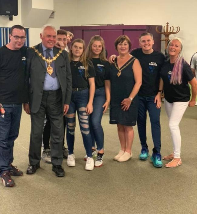 Organisers of All Stars Youth Club with the Mayor of Dudley Councillor David Stanley and the Consort Councillor Anne Millward.
