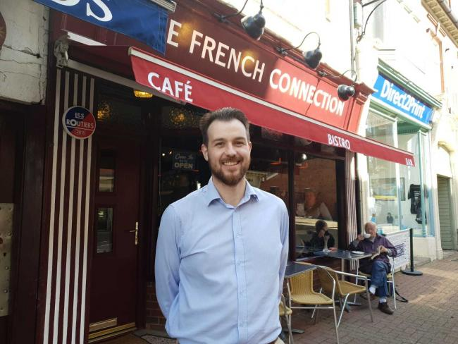 Ross McElligott outside the recently revamped French Connection restaurant
