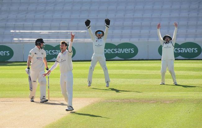 Bowler Ed Barnard removed two Sussex batsmen for Worcestershire at Hove. Picture: JONATHAN BARRY