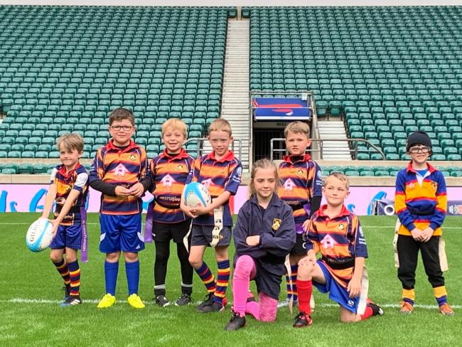 Youngsters from Old Halesonians at Twickenham