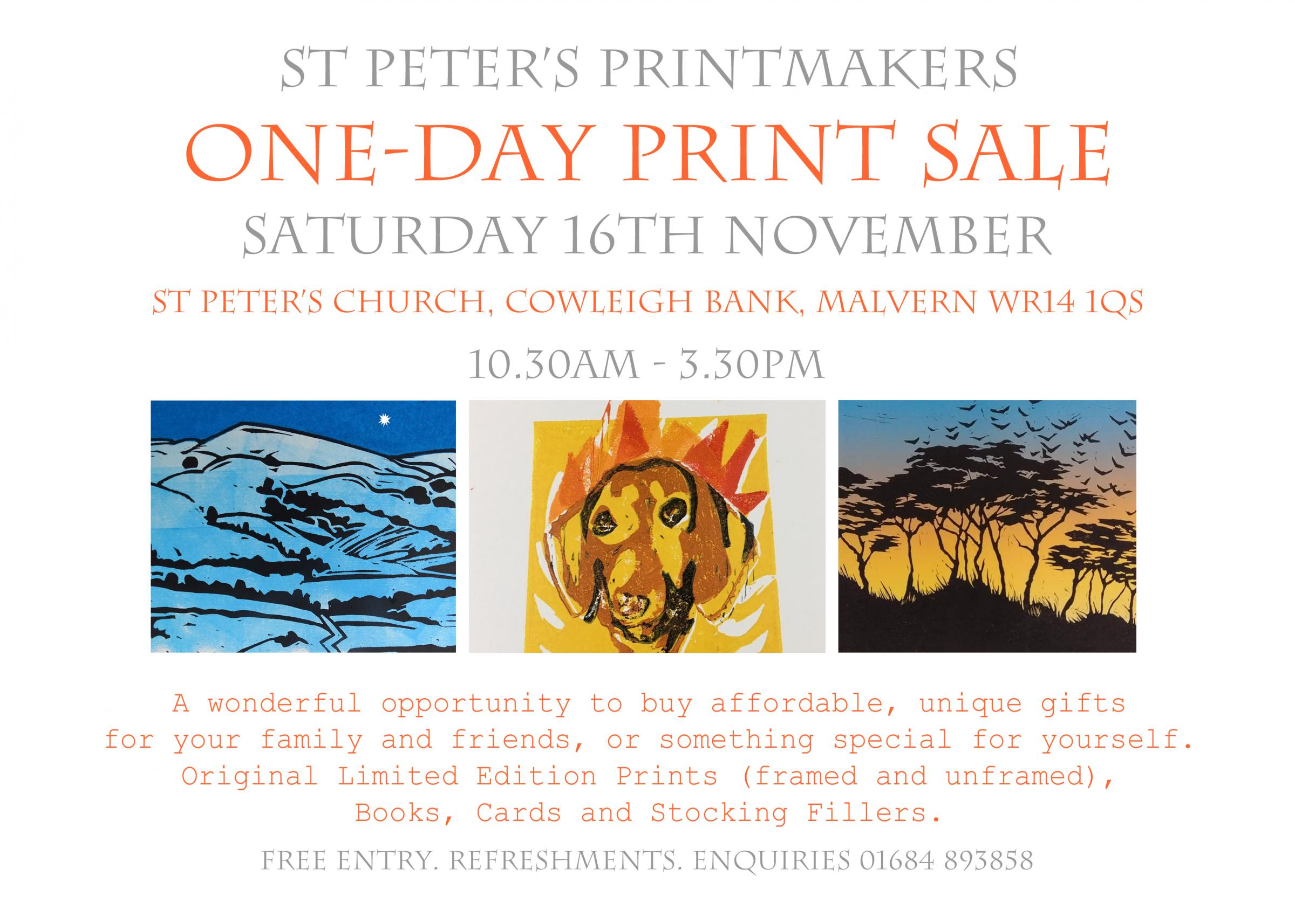 St Peter's Printmakers One-Day Print Sale