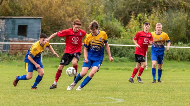 Action from Bewdley's clash with Cradley. Photo by Paul Hickey