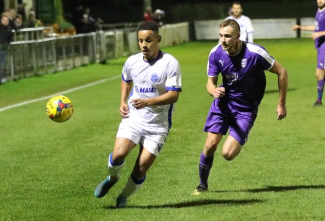 Actions from Halesowen's league cup defeat at Daventry. Photo by Steve Evans/Halesowen Town
