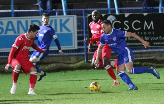 Montel Gibson netted a late equaliser against Stamford. Photo by Steve Evans/Halesowen Town