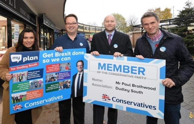 L/r Cllr Nicola Richards, Mike Wood MP, Paul Brothwood and Gavin Williamson MP.Picture Paul Brothwood.