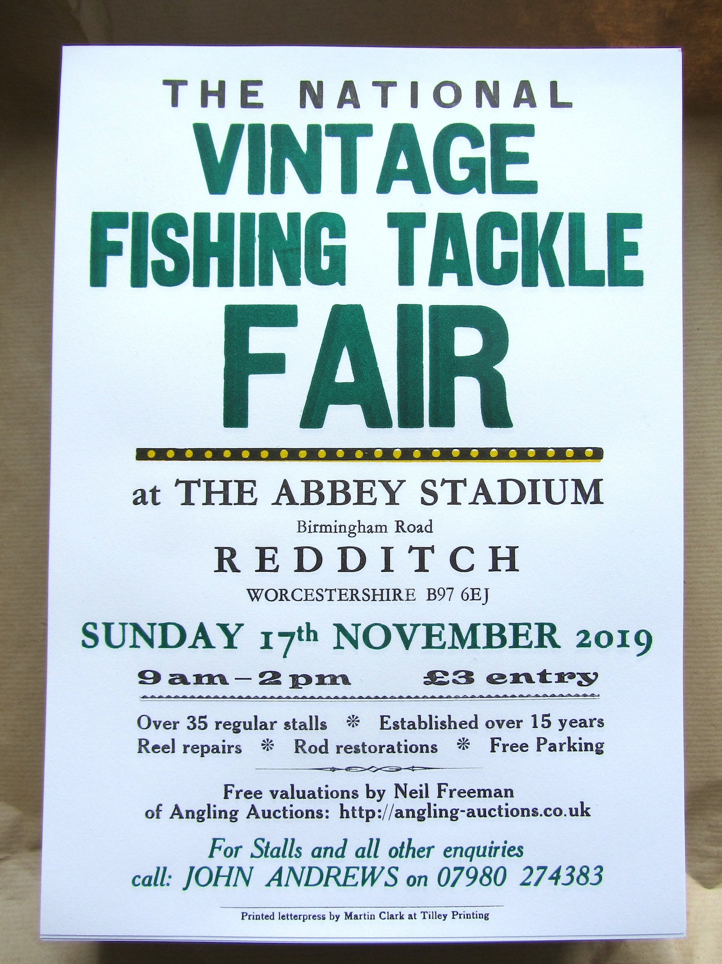 The National Vintage Fishing Tackle Fair