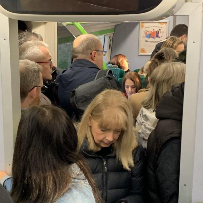 Crowding on West Midlands Rail