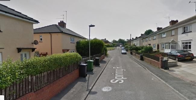 The unexploded shell was discovered in a garden in Spring Road, Netherton. Image: Google Maps.