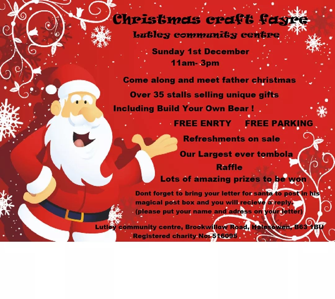 Lutley community centre christmas craft fayre
