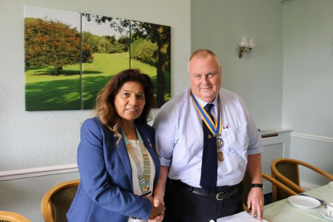 New president David Poston with district governor Bala Jaspal.