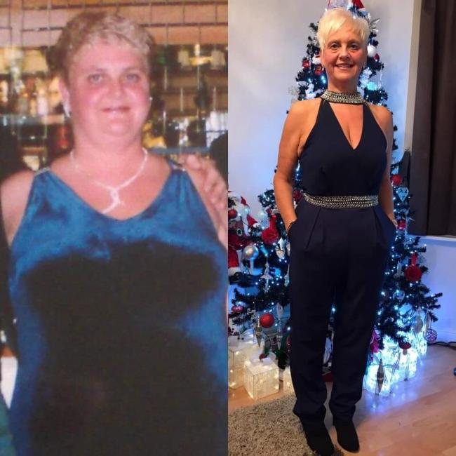 Dawn Garratt-Cochrane before and after her weight loss transformation.