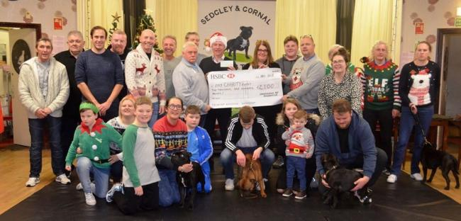 Members of Sedgley and Gornal Staffordshire Bull Terrier Club