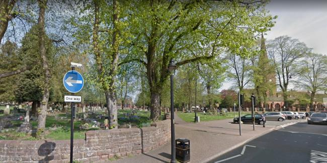 CCTV cameras will cover the whole of Halesowen town centre including St John's churchyard. Pic: Google