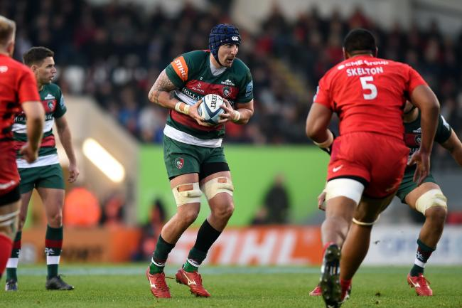 Will Spencer of Leicester Tigers in possession - Mandatory byline: Patrick Khachfe/JMP - 07966 386802 - 25/11/2018 - RUGBY UNION - Welford Road - Leicester, England - Leicester Tigers v Saracens - Gallagher Premiership Rugby