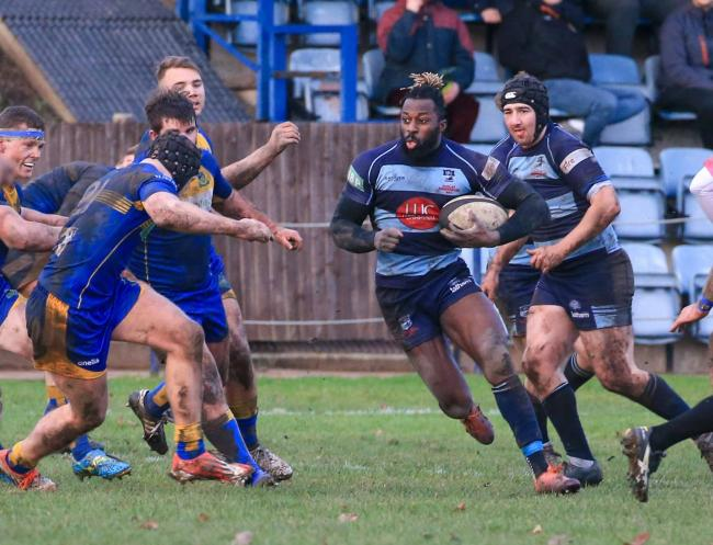Charles Baffour on the attack for DK against Kenilworth. Picture: Ian Jackson