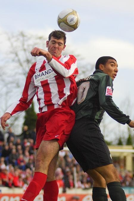 Action from Stourbridge's FA Cup clash with Walsall