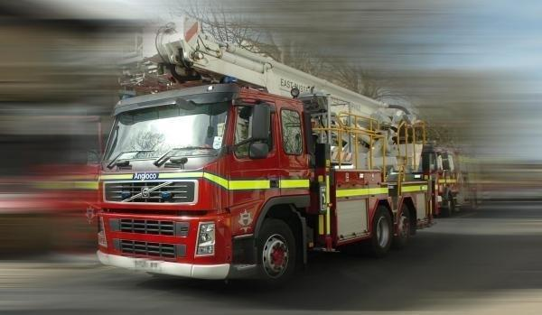 Fire crews raced to the scene on Bridgnorth Road.