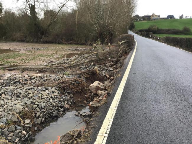 Holme Lacy Causeway is still closed. Picture: Herefordshire Council/Balfour Beatty Living Places