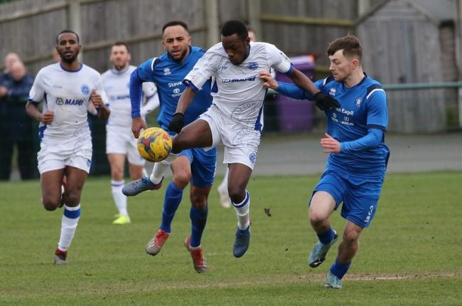 Action from Halesowen Town's 4-1 win at AFC Dunstable on Saturday. Pic: Steve Evans