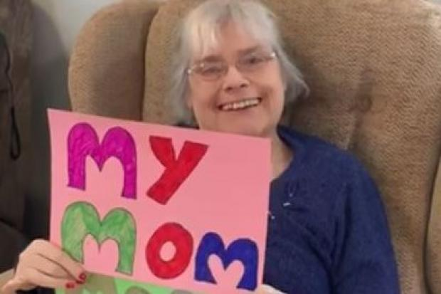 Residents at Three Roses home in Clent have created a video to show loved ones they are missed