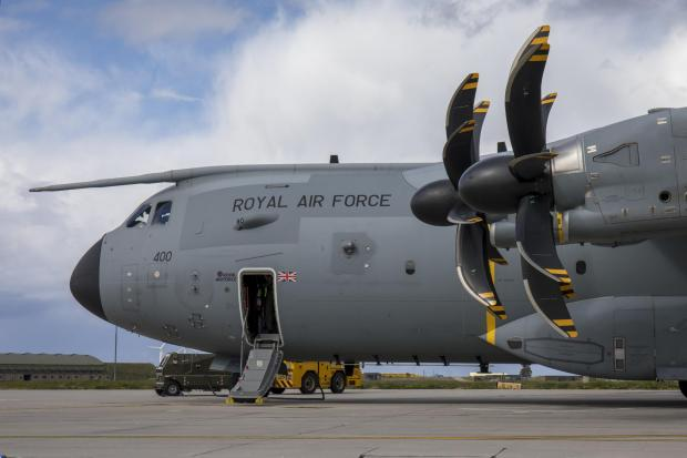 Stourbridge News: This is an Airbus A400M Atlas, the type of airfact seen over Glasgow in recent weeks (Image: RAF)