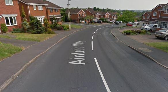 Aintree Way in Dudley. Image: Google Maps.