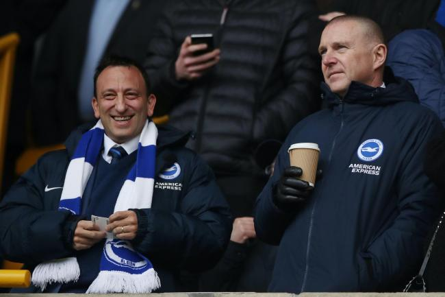 Brighton chief executive Paul Barber, right, is helping plan the Premier League's return.