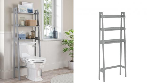 Stourbridge News: Over-the-toilet units provide a lot more storage space. Credit: Wayfair