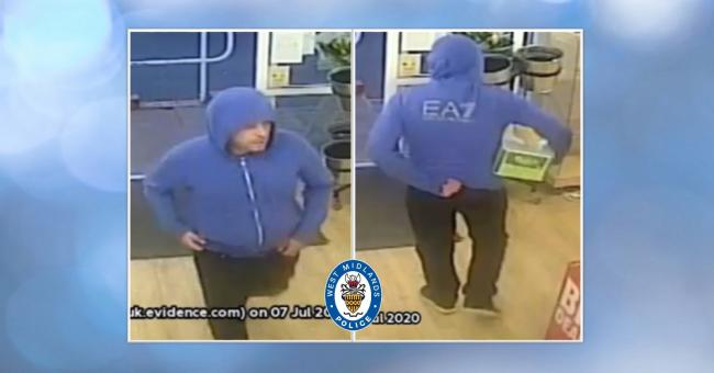 Do you recognise this man? Pic - West Midlands Police