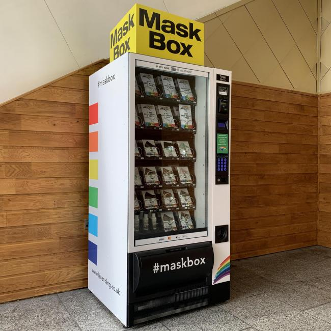 New PPE vending machines selling face masks installed at intu Merry Hill