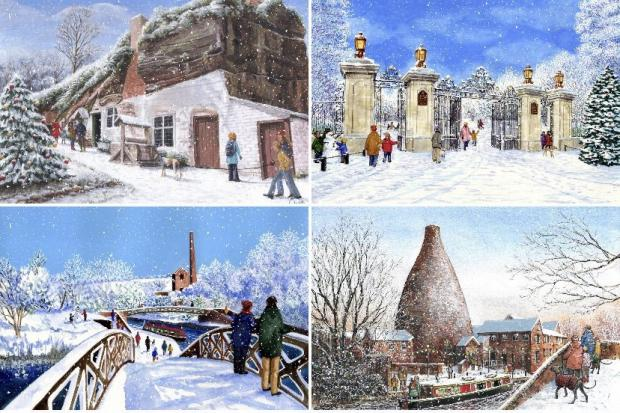 The Black Country themed Christmas cards in aid of Mary Stevens Hospice
