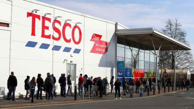 Tesco is introducing new social distancing measures in the UK to combat coronavirus