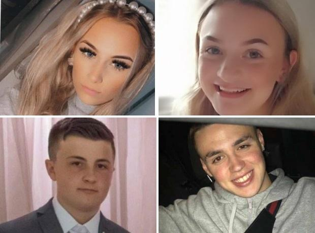 Lucy Tibbetts, top left, Izzie Floyd, top right, Joshua Parkes, bottom left, Nathan Cartwright, bottom right.