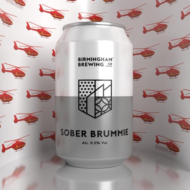 'Sober Brummie' is the latest addition to Birmingham Brewing Company's range of beverages and Midlands Air Ambulance Charity's festive merchandise