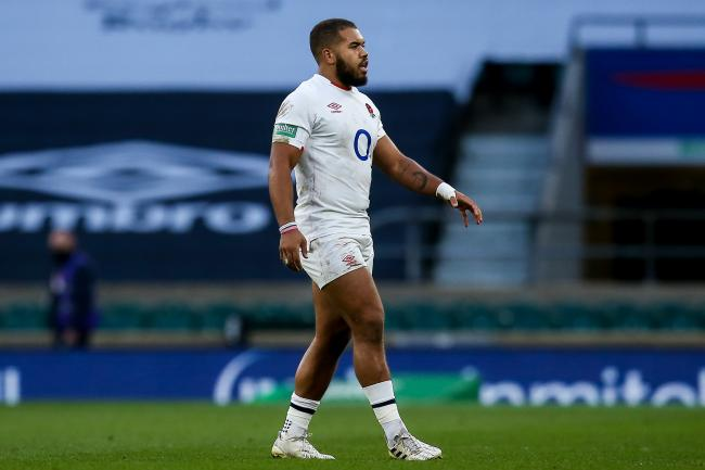 Ollie Lawrence has featured three times for England in this autumn series, two starts vs Georgia and Ireland and a 15-minute spell off the bench vs Italy at the end of October. Pic: JMP