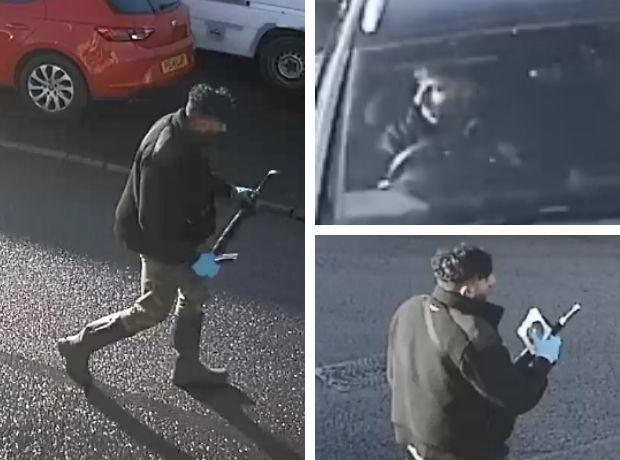 Do you recognise this man? Images courtesy of Leicestershire Police