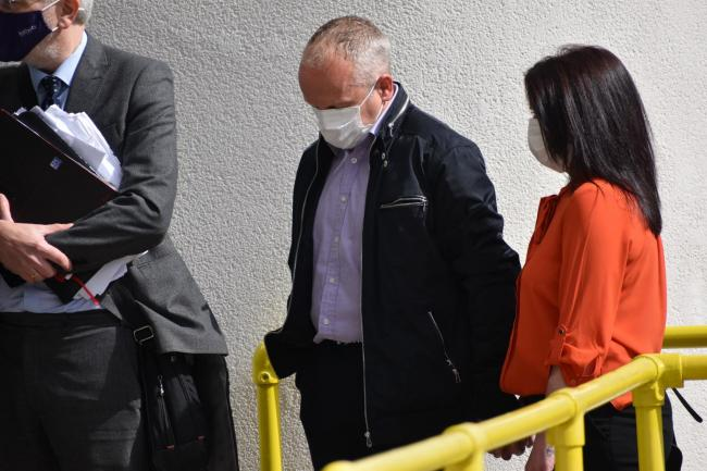 Simon Silwood entering Dudley Magistrates' Court on Thursday (Matthew Cooper/PA)