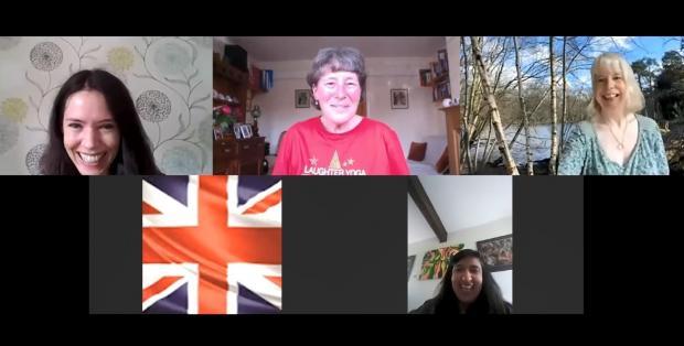 Stourbridge News: One of 'Merrie' Maggie Thompson's online laughter yoga sessions