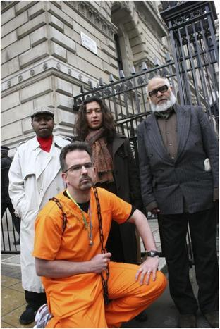 Dr David Nicholl with relatives of Guantanamo Bay inmates in 2005 including Saeed Siddique father-in-law of Shaker Aamer (right)