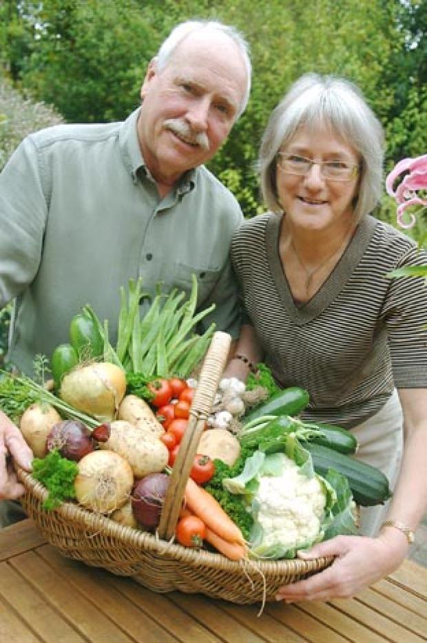 Gardeners Bob and Bridget Bradley prepare for the 65th Wall Heath annual show