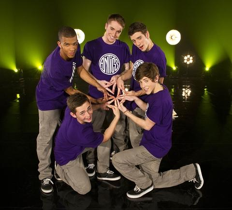 Antics Dance Crew - Joe is pictured bottom right