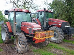 Two of the tractors entered in the May auction.